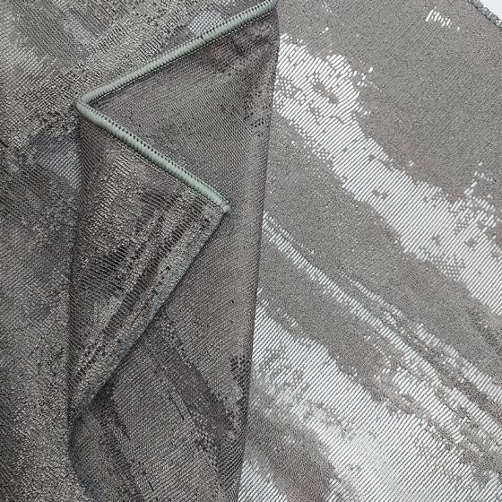 Tessuto tendaggio effetto cemento in devorè - varianti2