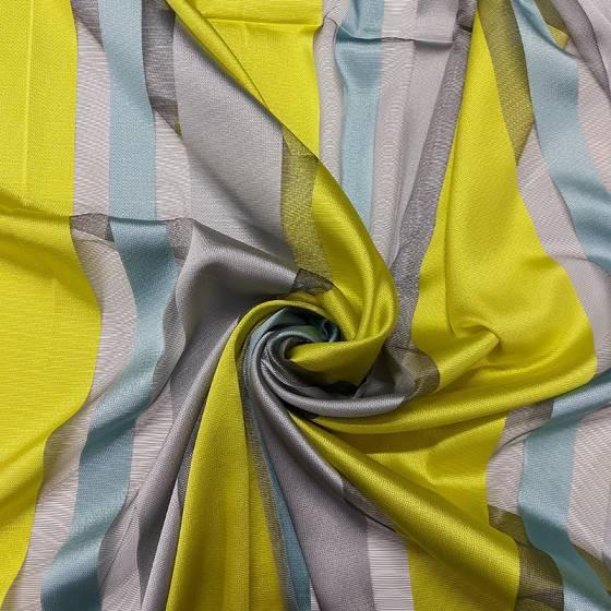 Tessuto tendaggio a righe colorate - vari colori