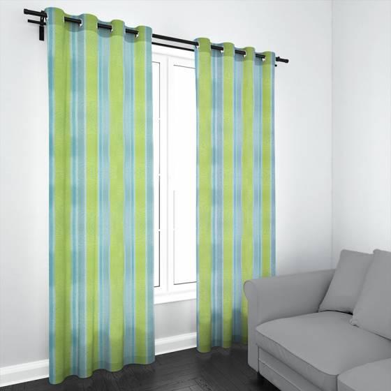 Tessuto tendaggio a righe colorate - vari colori3