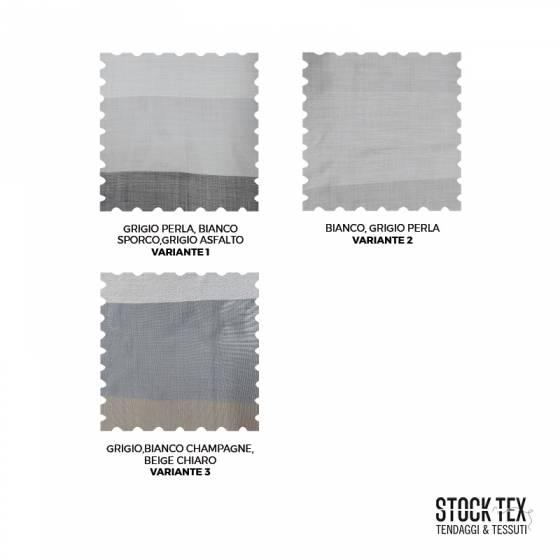 Tessuto tendaggio a righe colori neutri - varianti