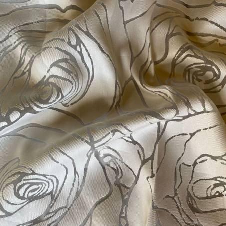 Tessuto tendaggio devorè con rose_9307