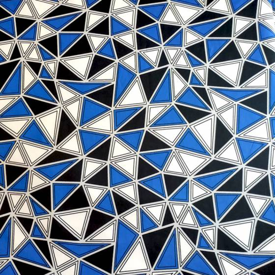 Tessuto abbigliamento fantasia geometrica triangoli