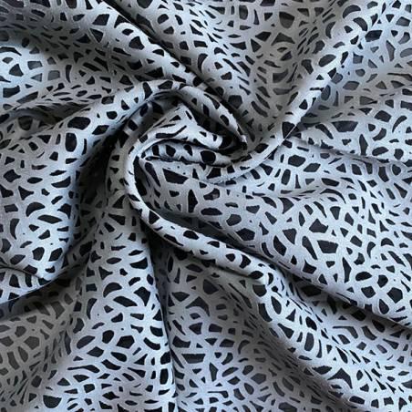 Tessuto per tendaggi in devorè disegno astratto