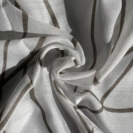 Tessuto per tendaggio con motivo linee ondulate
