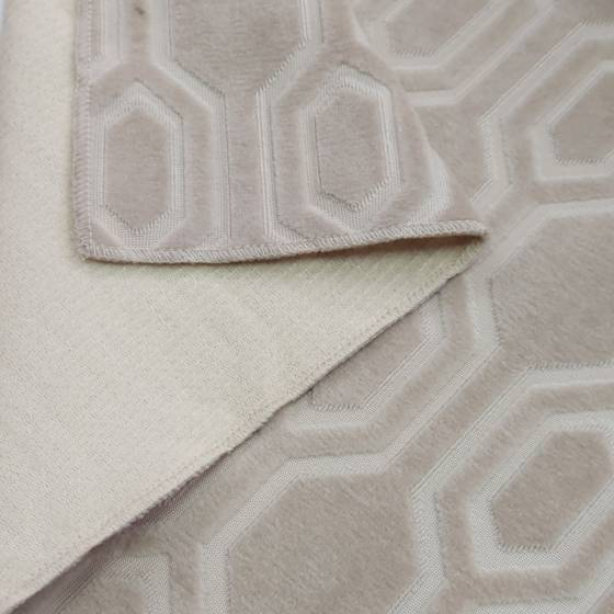 Tessuto arredamento Agnes vellutato motivo geometrico - vari colori 2