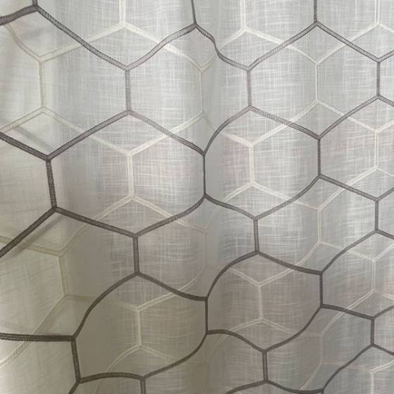 Tessuti per tendaggi a fantasia geometrica nido d'ape 3