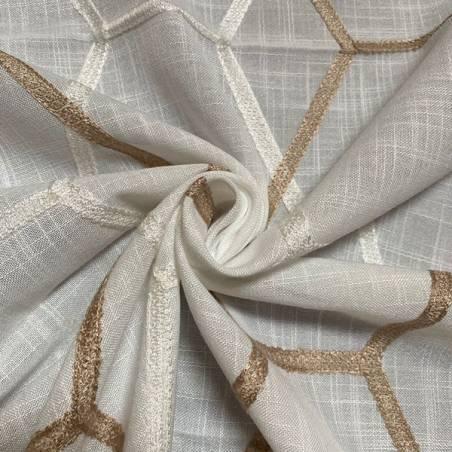 Tessuti per tendaggi a fantasia geometrica nido d'ape