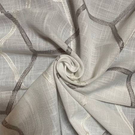 Tessuti per tendaggi a fantasia geometrica nido d'ape 2