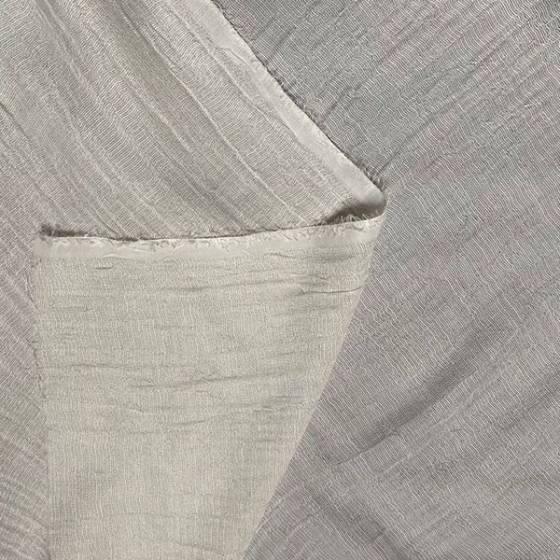 Tessuto per tendaggio tinta unita in misto seta effetto stropicciato 2