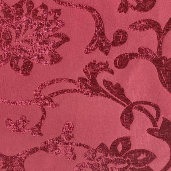 Tessuto arredo Alena a fiori effetto jaquard vellutato - vari colori