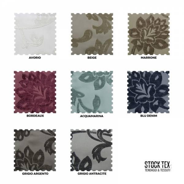 Tessuto arredo Alena a fiori effetto jaquard vellutato - vari colori 2