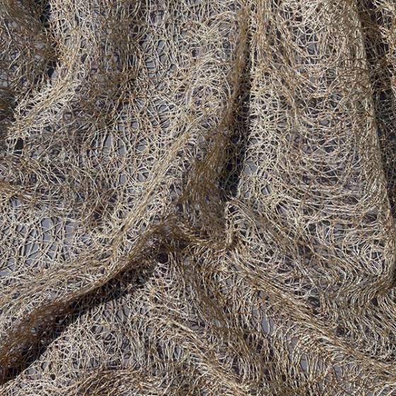 Tessuto per tendaggio a fili ricamati intrecciati 2