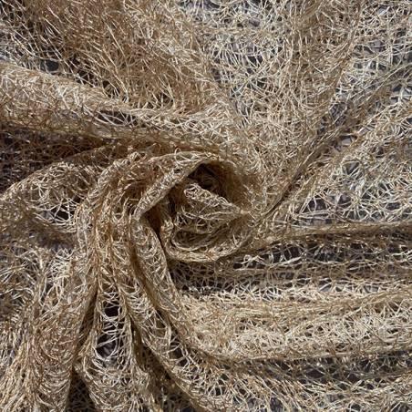 Tessuto per tendaggio a fili ricamati intrecciati