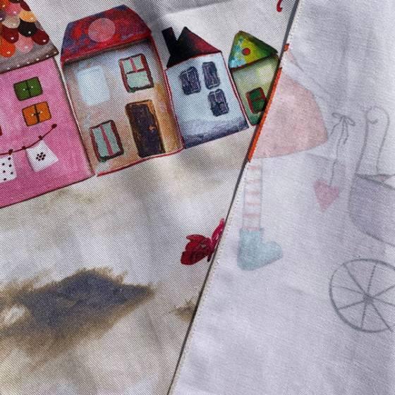 Tessuto per tendaggio con disegni fantasia per bambini1