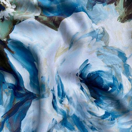Tessuto per tendaggio oscurante a fiori stile acquarello 2