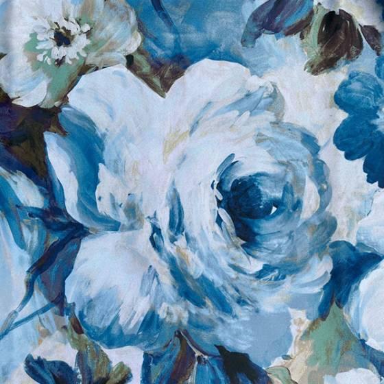 Tessuto per tendaggio oscurante a fiori stile acquarello