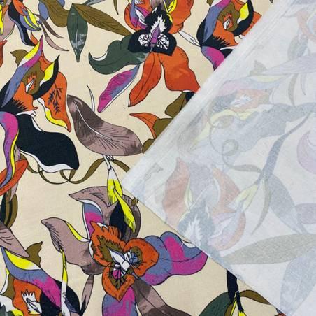 Tessuto mille usi fantasia floreale multicolor 2