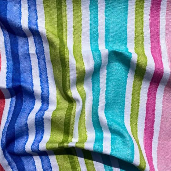 Tessuto per tendaggio a righe colorate per bambini