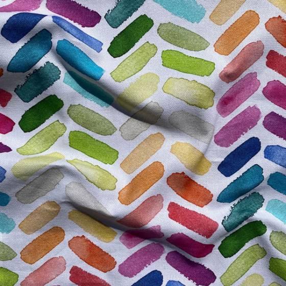 Tessuto per tendaggio stile pennellate d' acquarello