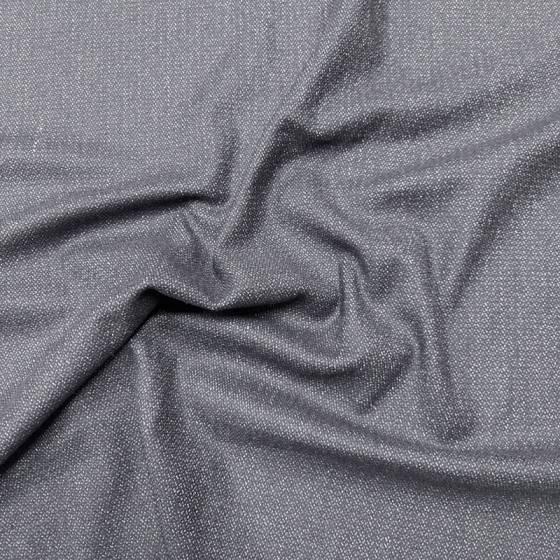 Tessuto per abbigliamento fresco lana morbido - nero con puntinato bianco 5