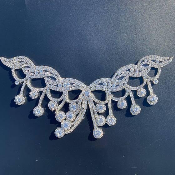 Fiocco per accessori abbigliamento crystal termoadesivo1