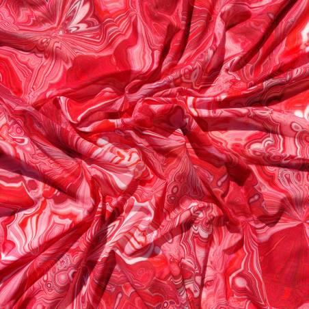 Tessuto abbigliamento fantasia astratta dai toni rossi 2