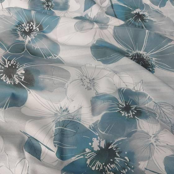 Tessuto tovagliato Bottaro a fiori effetto disegno