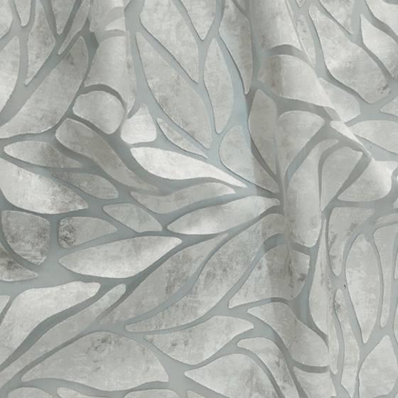 Tessuto per tendini stile devorè effetto sfumato grigio