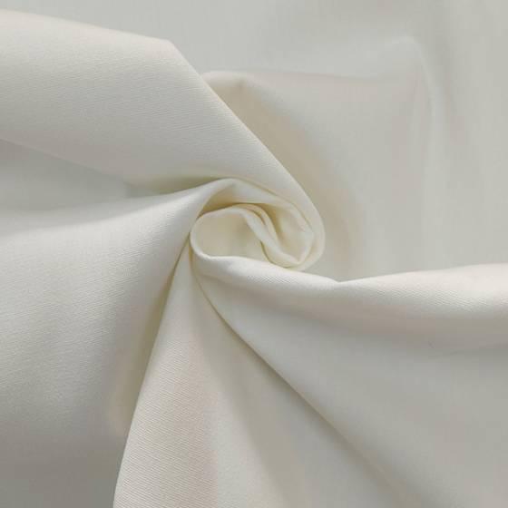 Tessuto per arredamento teflonato in tinta unita bianco naturale