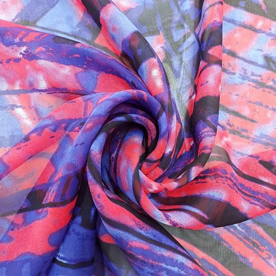 Tessuto per abbigliamento in voile di seta