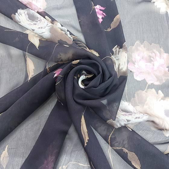 Tessuto abbigliamento in seta fantasia floreale