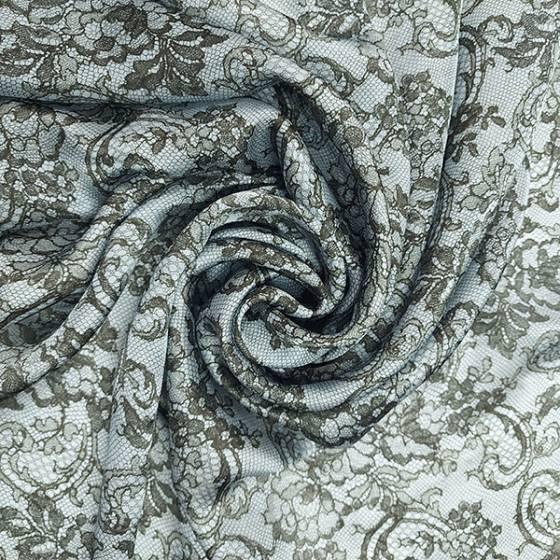 Tessuto abbigliamento in seta con fantasia stampata