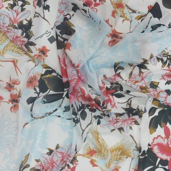 Tessuto abbigliamento crepe in stile orientale 3