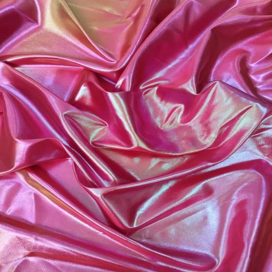 Tessuto abbigliamento rosso iridescente