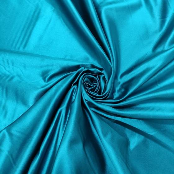 Raso in pura seta blu ottanio
