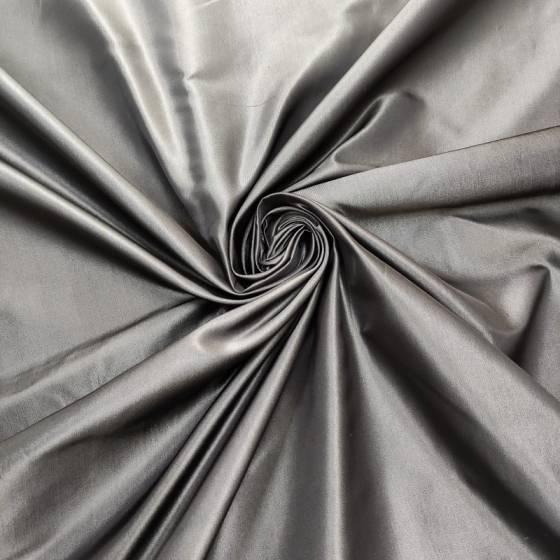 Taffetà di seta grigio antracite metallizzato