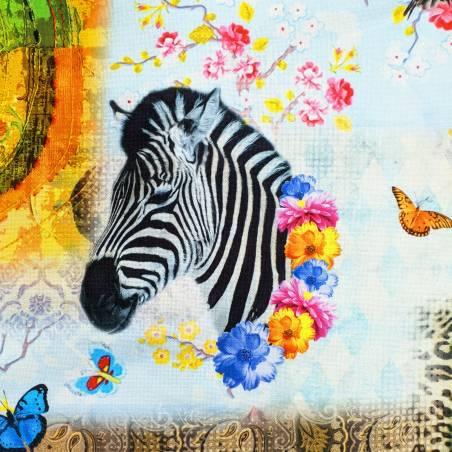Tessuto arredo fantasia animalier multicolore 2