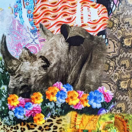 Tessuto arredo fantasia animalier multicolore