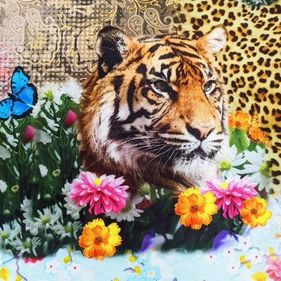 Tessuto arredo fantasia animalier multicolore 6
