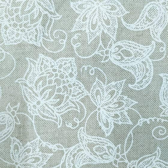 Tessuto per arredamento fantasia fiori bianchi
