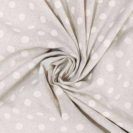 Tessuto per arredamento fantasia palline bianche 5